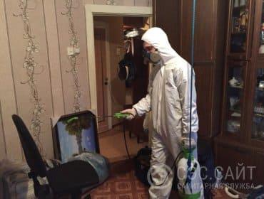 Уничтожение кожеедов в квартире холодным туманом